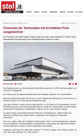 Architects WN, Martin Willeit, Arch. Johannes Niederstätter, Südtirol, Bozen, Architektur, Inneneinrichtung, stol.it, Technoalpin